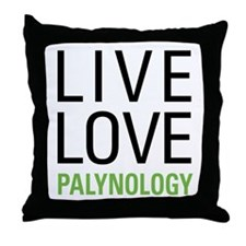 Live Love Palynology Throw Pillow