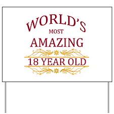 18th. Birthday Yard Sign