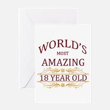 18th. Birthday Greeting Card