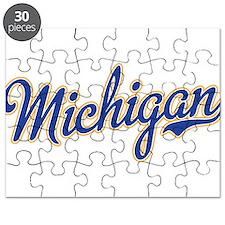 Michigan Script Font Puzzle