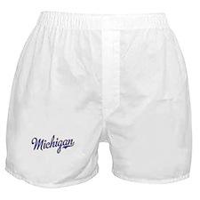 Michigan Script Font Boxer Shorts