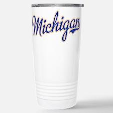 Michigan Script Font Travel Mug