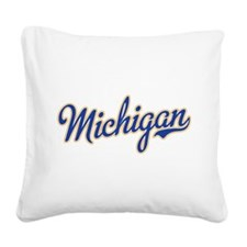 Michigan Script Font Square Canvas Pillow
