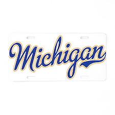 Michigan Script Font Aluminum License Plate