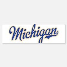 Michigan Script Font Bumper Bumper Bumper Sticker