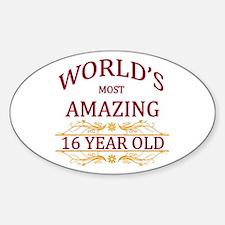 16th. Birthday Sticker (Oval)