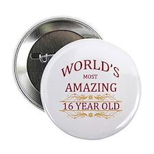 """16th. Birthday 2.25"""" Button"""