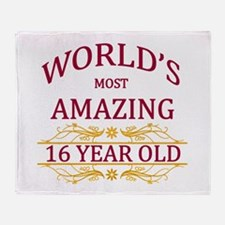 16th. Birthday Throw Blanket