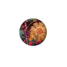 Wild child flowers! Mini Button