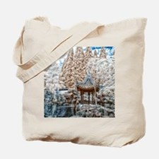 Chinese Garden Infrared Tote Bag