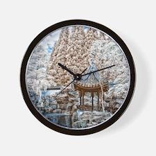 Chinese Garden Infrared Wall Clock