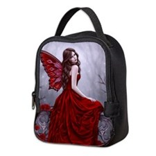 Winter Rose Butterfly Fairy Neoprene Lunch Bag