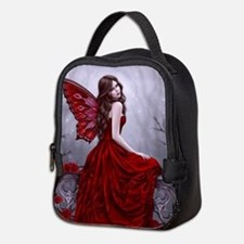 Winter Rose Butterfly Fairy Neoprene Lunch Bag