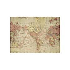 Vintage world map 5'x7'Area Rug