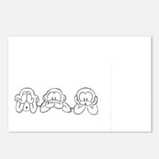 The Three Monkeys Postcards (Package of 8)