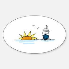 Sunrise Sailboat Decal