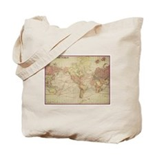 Vintage world map Tote Bag