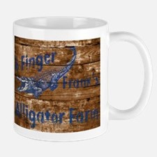 6 finger frank Alligator farm wood sign Mugs