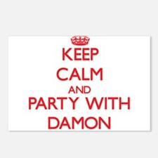 Keep calm and Party with Damon Postcards (Package