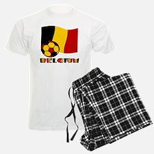 Belgium Soccer Ball and Flag Pajamas