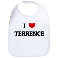 I Love TERRENCE Bib