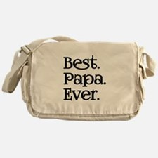BEST PAPA EVER Messenger Bag