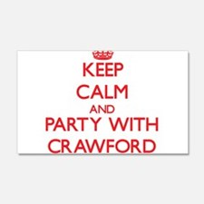 Keep calm and Party with Crawford Wall Decal