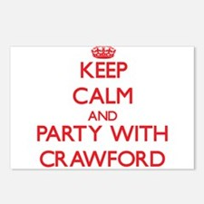 Keep calm and Party with Crawford Postcards (Packa