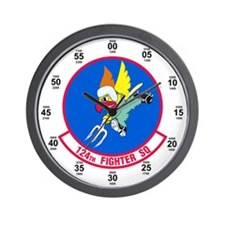 124th Fighter Squadron Wall Clock