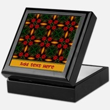 Christmas Themed Pattern Custom Keepsake Box