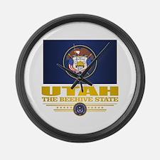 Utah Flag (v15) Large Wall Clock