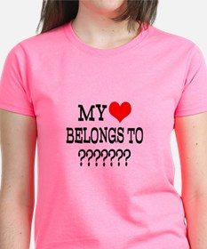 Personalize My Heart Belongs To T-Shirt