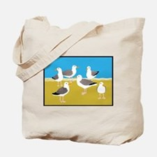Gang of Seagulls Tote Bag