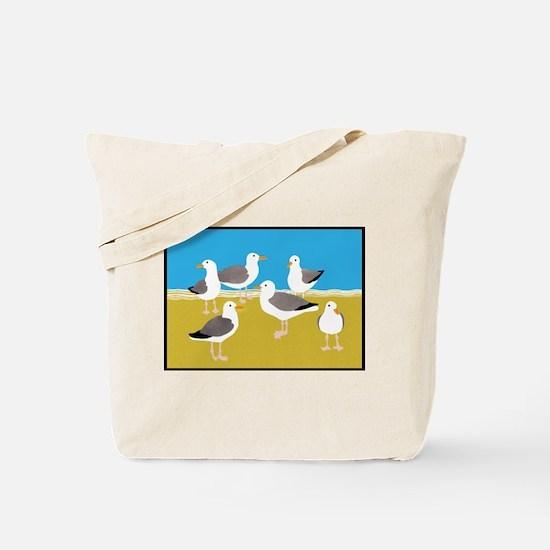 Gang of Seagulls Tote Bag
