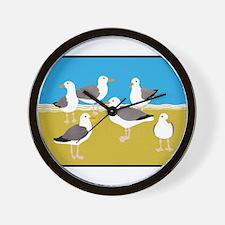 Gang of Seagulls Wall Clock