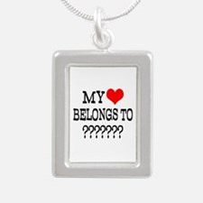 Personalize My Heart Belongs To Necklaces