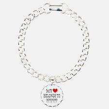 Personalize My Heart Belongs To Bracelet