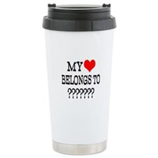 Personalize My Heart Belongs To Travel Mug