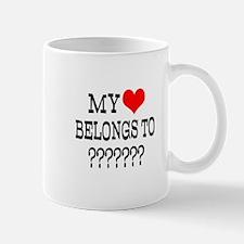 Personalize My Heart Belongs To Mugs