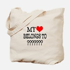 Personalize My Heart Belongs To Tote Bag