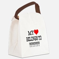 Personalize My Heart Belongs To Canvas Lunch Bag