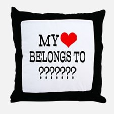 Personalize My Heart Belongs To Throw Pillow