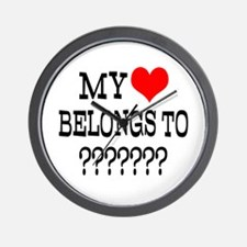 Personalize My Heart Belongs To Wall Clock