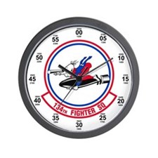 134th Fighter Squadron Wall Clock
