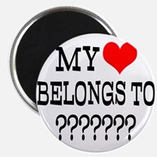 Personalize My Heart Belongs To Magnets