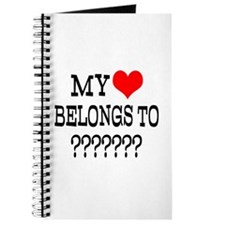 Personalize My Heart Belongs To Journal