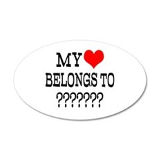 Personalize My Heart Belongs To Wall Decal