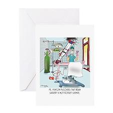 Surgery Cartoon 8815 Greeting Card