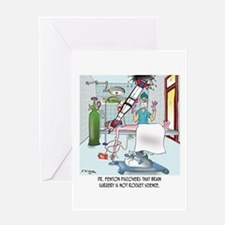 Surgery Cartoon 8815 Greeting Card