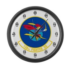 138th Attack Squadron Large Wall Clock